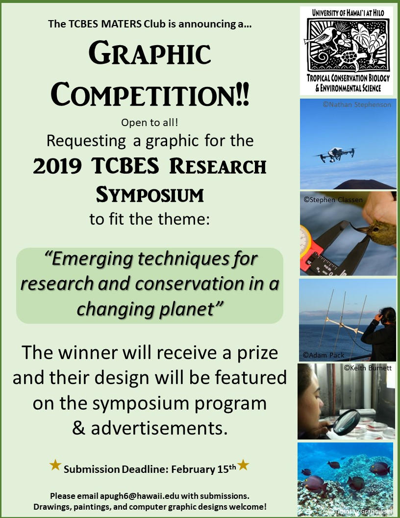 TCBES Symposium Graphic Contest looking for art submissions to be featured on the symposium program. Deadline is Feb. 15th, 2019 and winner will also receive a prize!